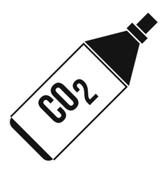 Co2 bottle icon simple style vector
