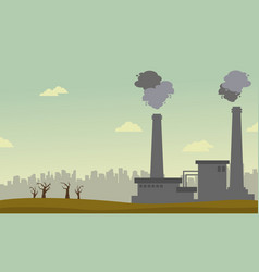 Collection of pollution industry background vector