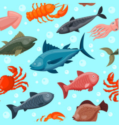 Colorful under water world animals wallpaper with vector