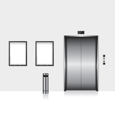 Elevator with closed door vector image vector image