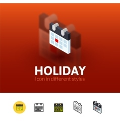 Holiday icon in different style vector image