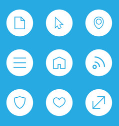 Interface outline icons set collection of file vector