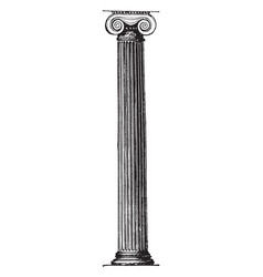 Ionic pillar in the erechtheum at athens support vector
