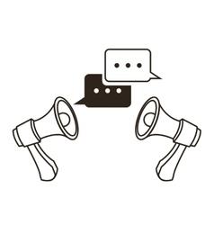 Megaphone bubble communication design vector