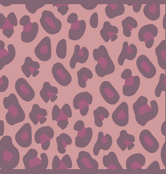Pink leopard print seamless background vector