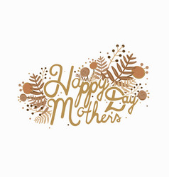 Postcard with inscription happy mother s day vector