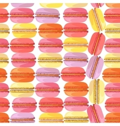 Seamless pattern with tasty donuts vector
