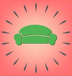 sofa icon symbol furniture icon home interior vector image vector image