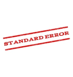 Standard error watermark stamp vector