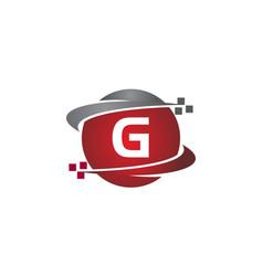 technology transfer letter g vector image