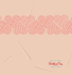 Valentine love hearts retro background vector