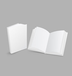 white book closed and open vector image