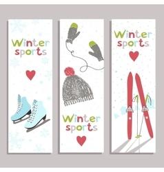 Winter banners vector