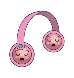 Kawaii cartoon headset vector