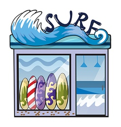 A surf accessories store vector