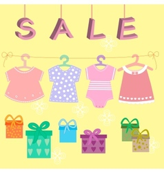 Babies clothes kids icons collectionsale vector