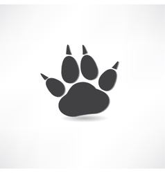 animal tracks icon vector image