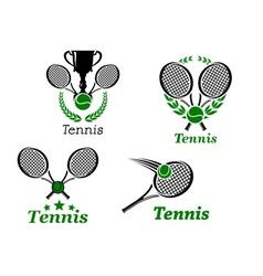 Tennis sport emblems vector image