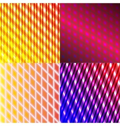 Set of splash color abstract glowing background vector