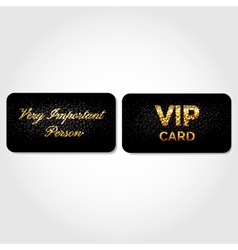 Vip card decorated with leather vector
