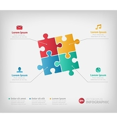 Puzzle infographic for business vector