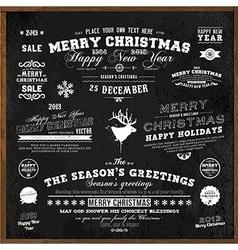Christmas Typography vector image