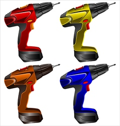 Electric screwdrivers vector