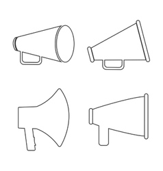 Bullhorn announce graphic vector