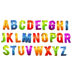 Alphabet 3d text vector