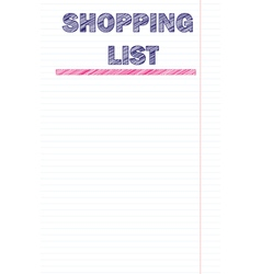 Shopping list template vector