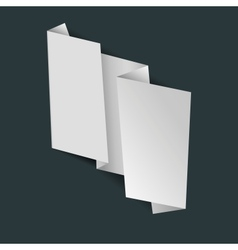 Abstract white origami banner vector