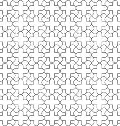 Simple geometric seamless pattern in oriental vector image