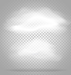 Different white clouds set on transparent vector
