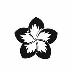 Frangipani flower icon simple style vector