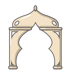 Archway turkey icon cartoon style vector
