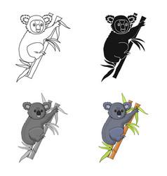 Australian koala icon in cartoon style isolated on vector