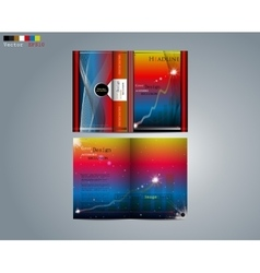 Business design of the brochure vector image vector image