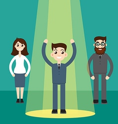 Businessman in spotlight vector image