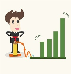 Businessman make a chart going upbusiness idea vector