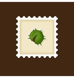 Chestnut stamp harvest thanksgiving vector