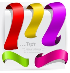 colorful bookmarks for text vector image vector image