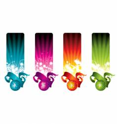 Disco banners vector