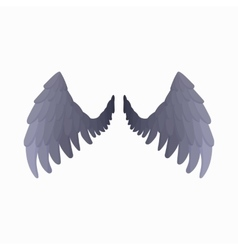 Eagle wings icon cartoon style vector
