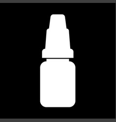 eye drops white color icon vector image