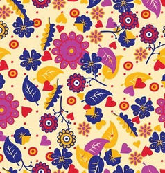 Floral seamless abstract hand drawn pattern vector
