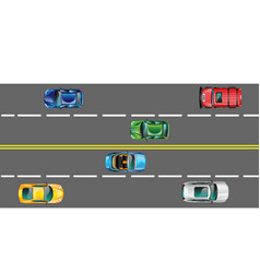 highway and moving cars vector image vector image