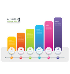 infographic 6 tab design and marketing template vector image vector image