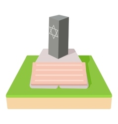 Jevish grave icon cartoon style vector image