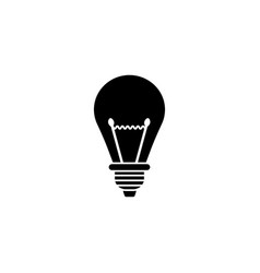 Light lamp solid icon education business element vector