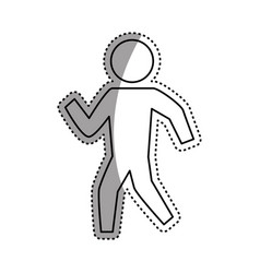 Man silhouette walking vector